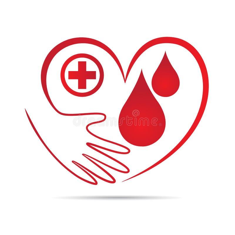 捐赠血液并且拯救生命 皇族释放例证