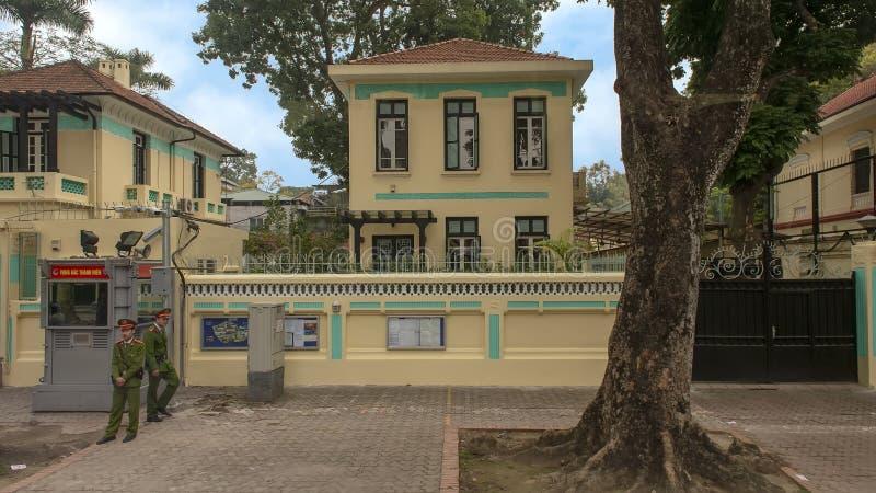 捷克,河内,越南的使馆 免版税库存照片
