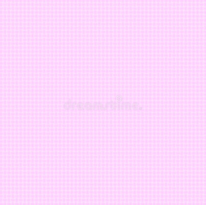 桃红色被编织的Basketweave抽象背景 库存例证
