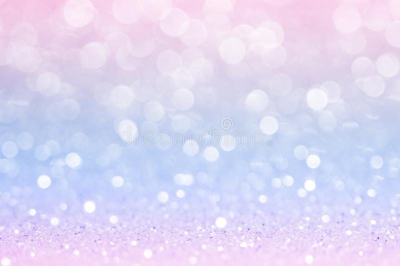 桃红色蓝色,桃红色bokeh,圈子抽象轻的背景,桃红色金发光的光,闪耀的闪烁的情人节,妇女天或 免版税库存图片