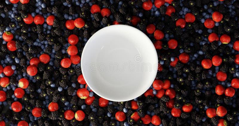 森林背景的果子 皇族释放例证