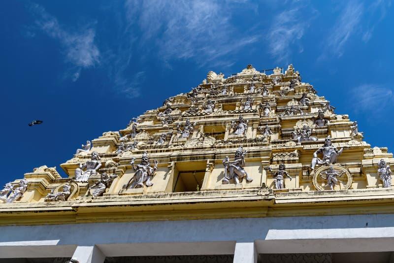 楠迪寺庙,Dodda Basavana Gudi在班加罗尔,印度 库存照片