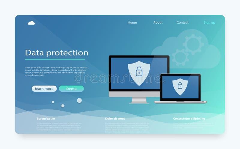 概念是数据保密 数据保护,保密性,互联网安全 安全机密资料 皇族释放例证
