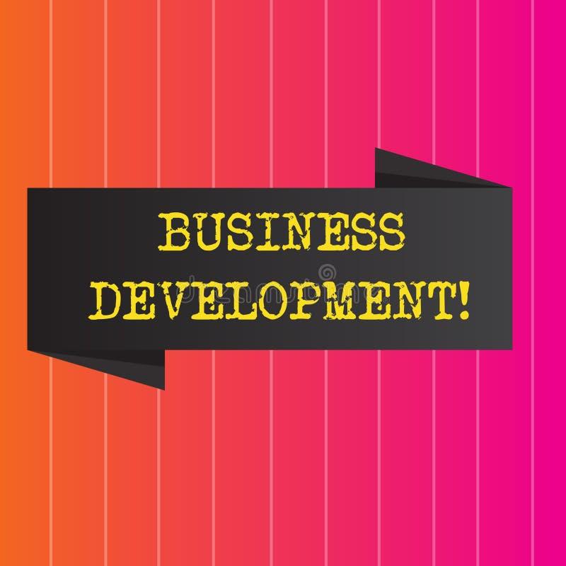 概念性手文字演艺界发展 企业照片陈列开发并且实施组织成长 向量例证