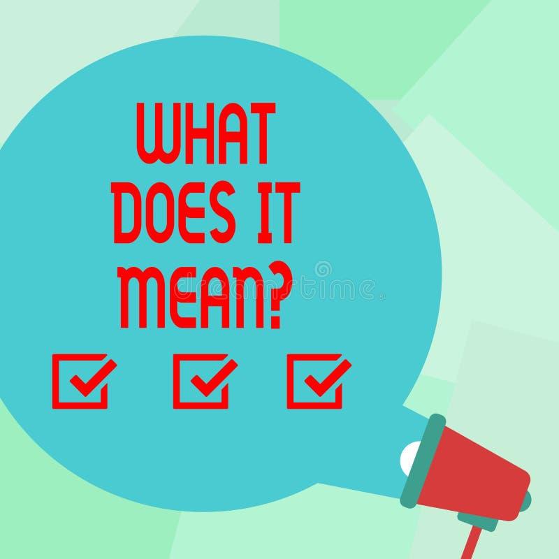 概念性手文字显示什么做它Meanquestion 企业照片文本混乱求知欲问询问 向量例证