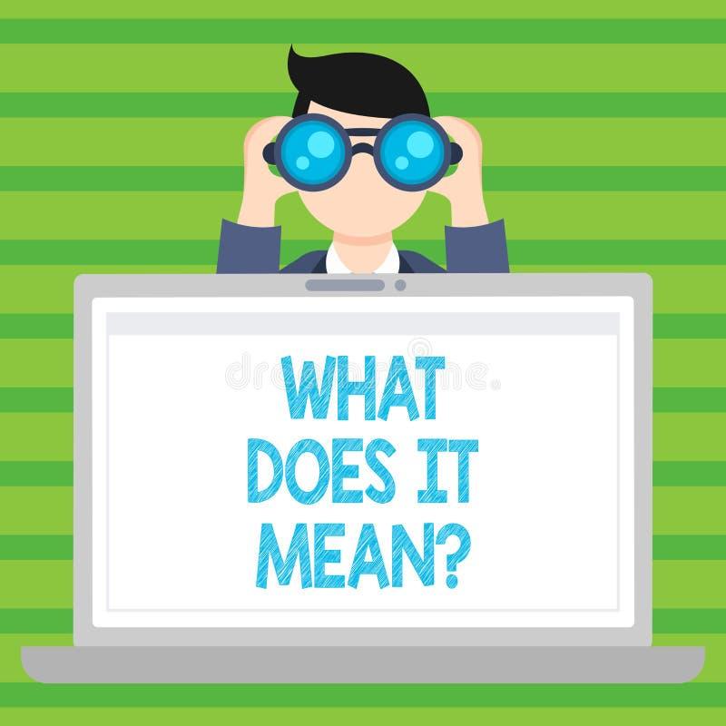 概念性手文字显示什么做它Meanquestion 企业照片文本混乱求知欲问询问 库存例证