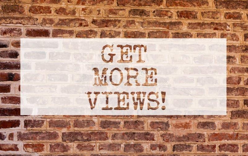 概念性手文字陈列得到更多看法 企业照片陈列获得另外的追随者和喜欢在您 免版税库存图片