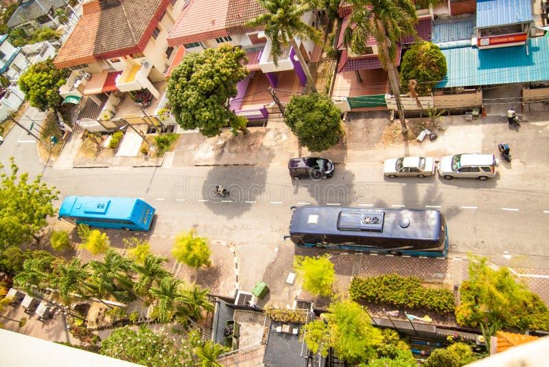 槟榔岛海岛,马来西亚美好的都市看法  免版税库存照片