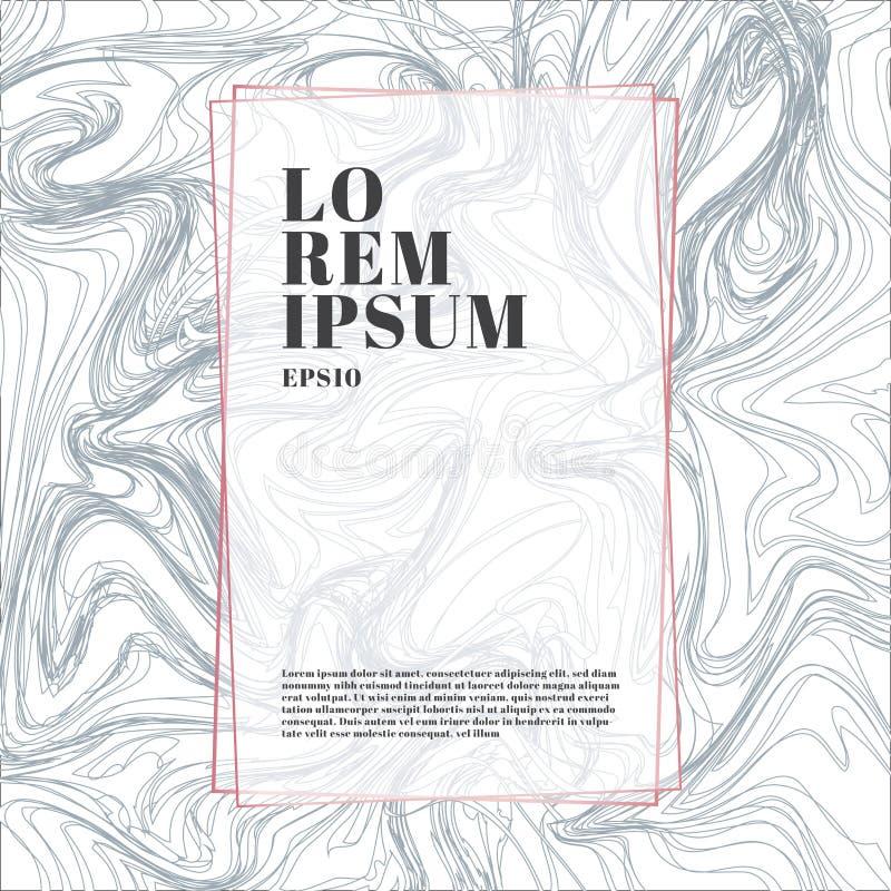 模板桃红色金子在白色和灰色大理石背景和纹理豪华样式的颜色框架 时髦样式,海报,几何 向量例证