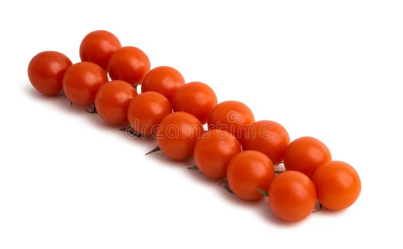 樱桃查出的蕃茄 免版税库存照片