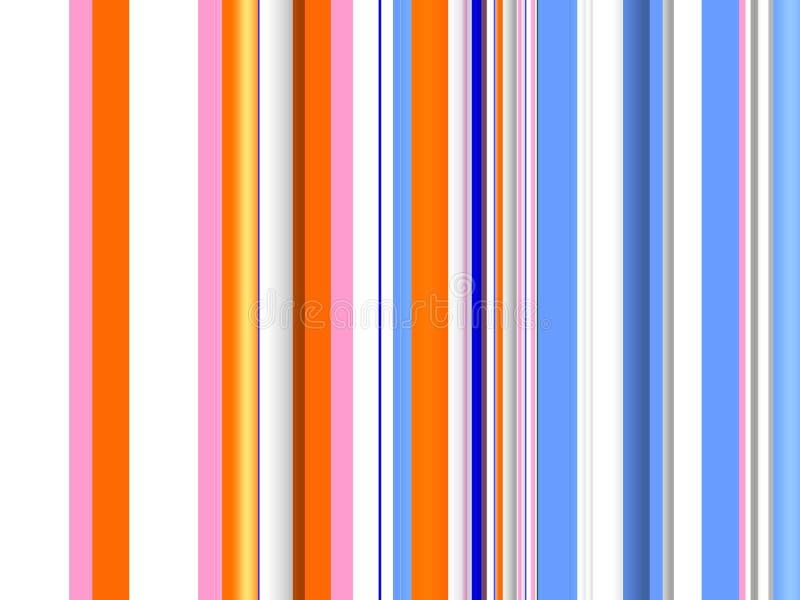 橙色蓝色不同的线纹理,抽象背景 皇族释放例证