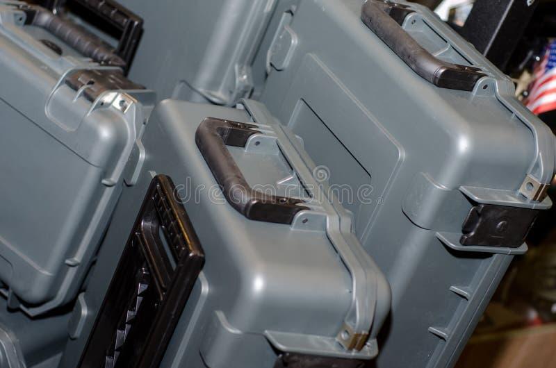 武器的盒 免版税库存照片