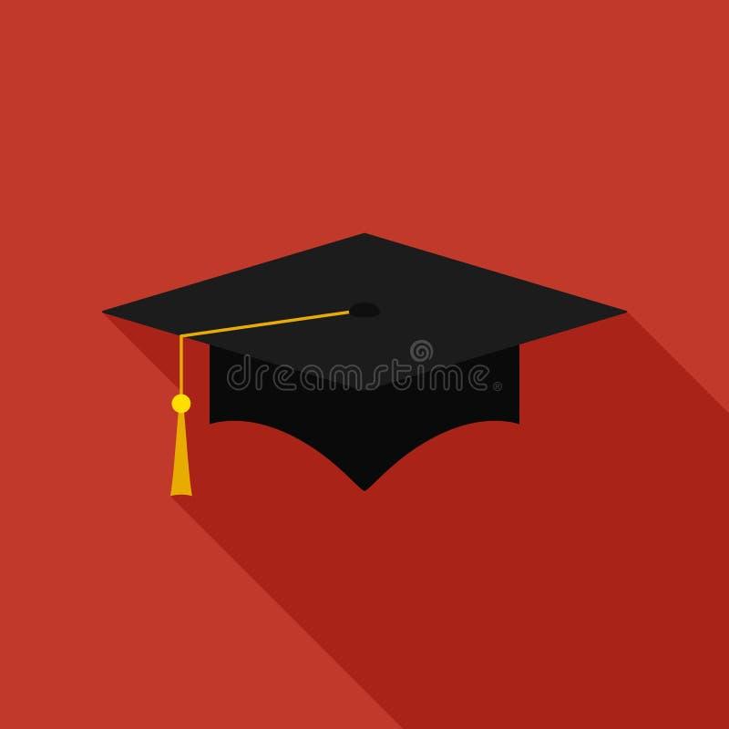 毕业盖帽平的象 库存例证