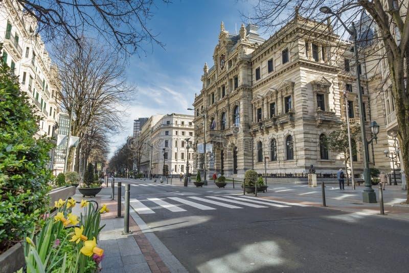 毕尔巴鄂代表团大厦  免版税库存照片