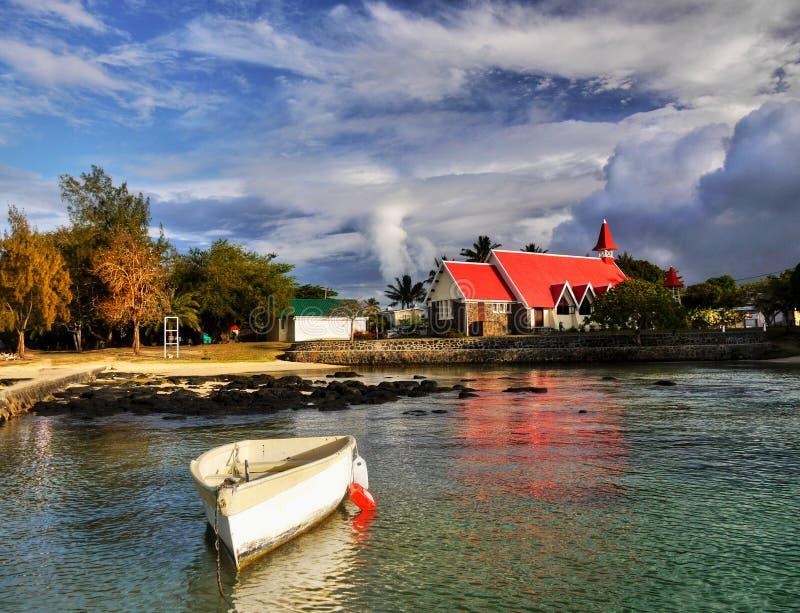 毛里求斯沿海风景,印度洋海岛 库存照片