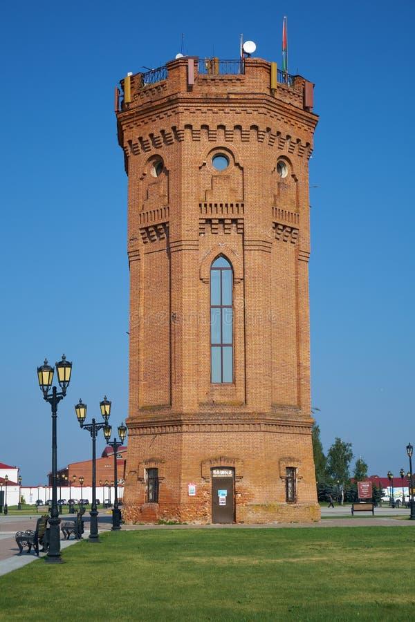 水塔 克里姆林宫tobolsk Tobolsk 秋明州俄罗斯 库存图片