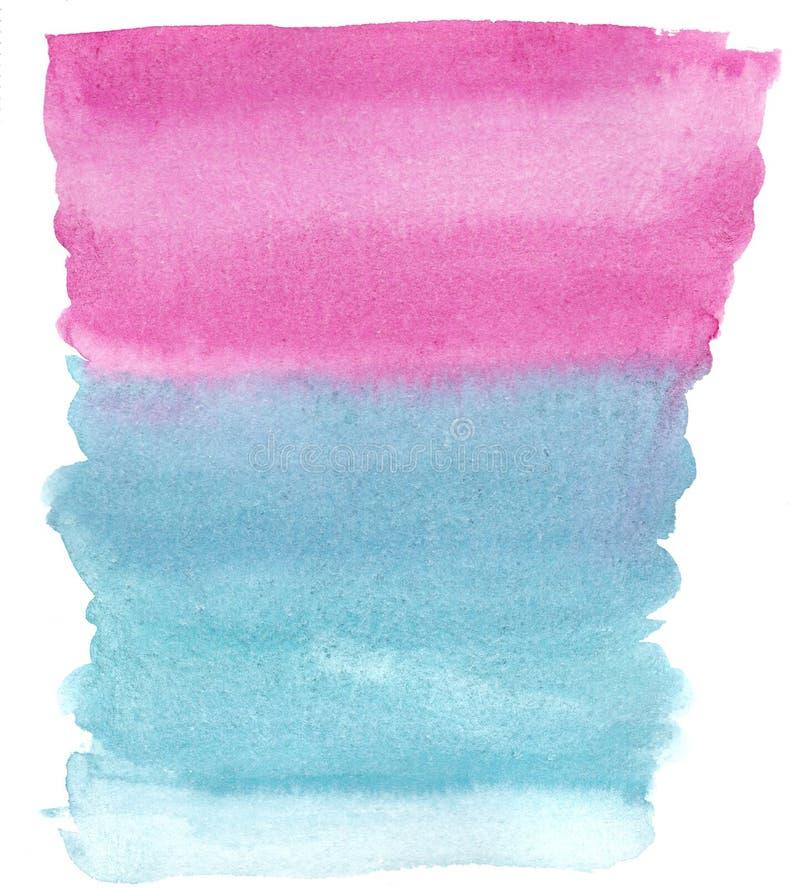 水彩对深蓝的梯度桃红色 向量例证