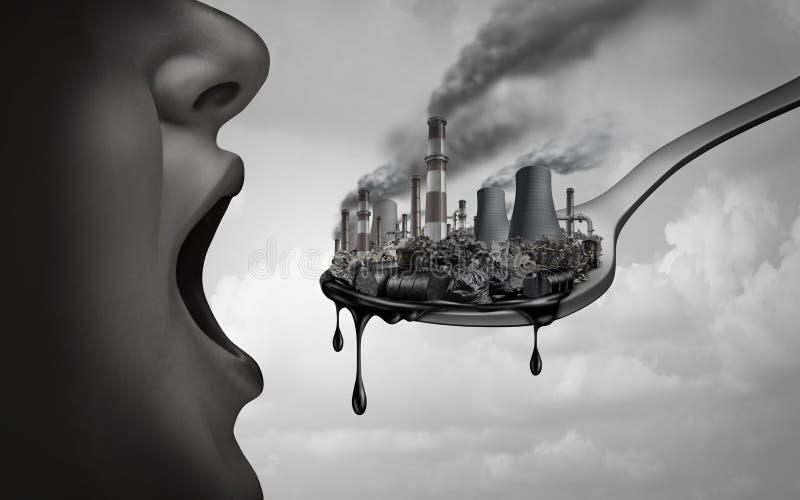 污染的概念 库存例证