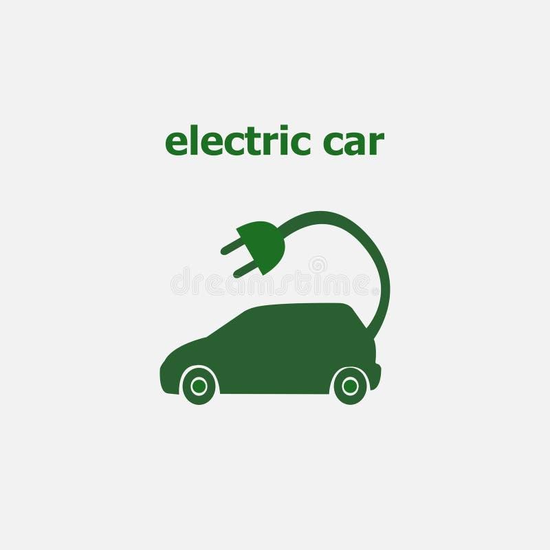 汽车充电电 Eco 生态学 也corel凹道例证向量 10 eps 向量例证