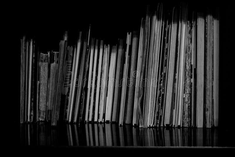 没有盖子的书在架子 免版税库存图片