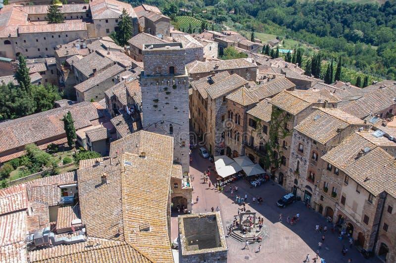 沃尔泰拉,托斯卡纳,意大利 沃尔泰拉是一个被围住的山顶面镇在意大利的托斯卡纳地区 免版税库存照片
