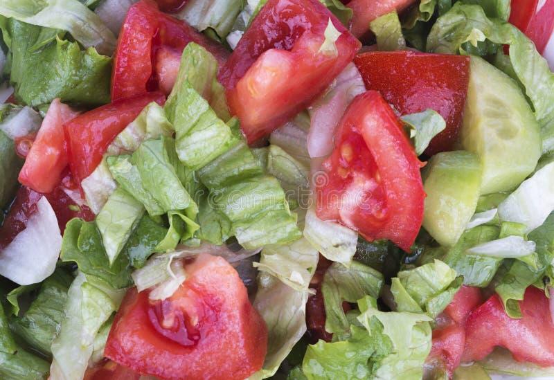 沙拉 接近的沙拉被射击蔬菜 春天菜沙拉 免版税图库摄影
