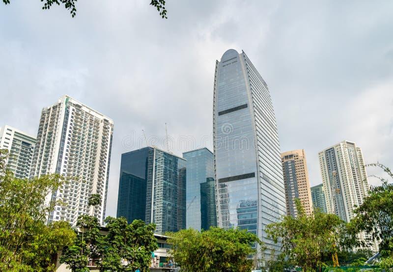 波尼斯奥全球性市的-马尼拉,菲律宾摩天大楼 免版税库存照片