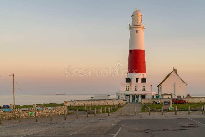 波特兰比尔灯塔,侏罗纪海岸,多西特,英国 库存照片