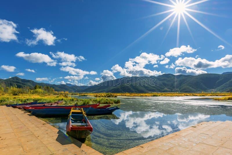 泸沽湖 Lugu lake view royalty free stock photography