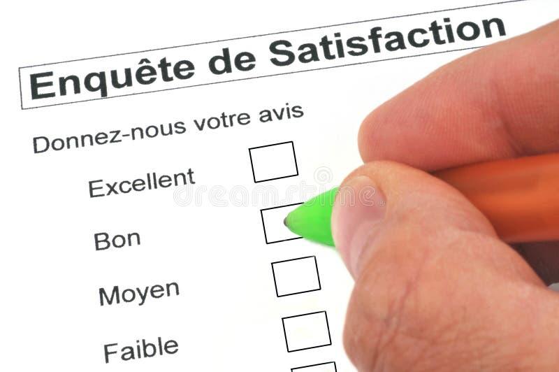 法国满意调查 库存例证