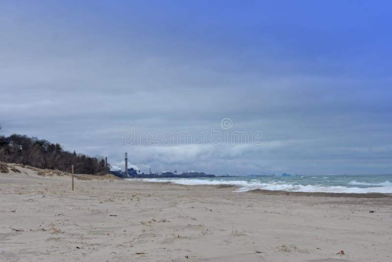 海洋风景在冬天 图库摄影