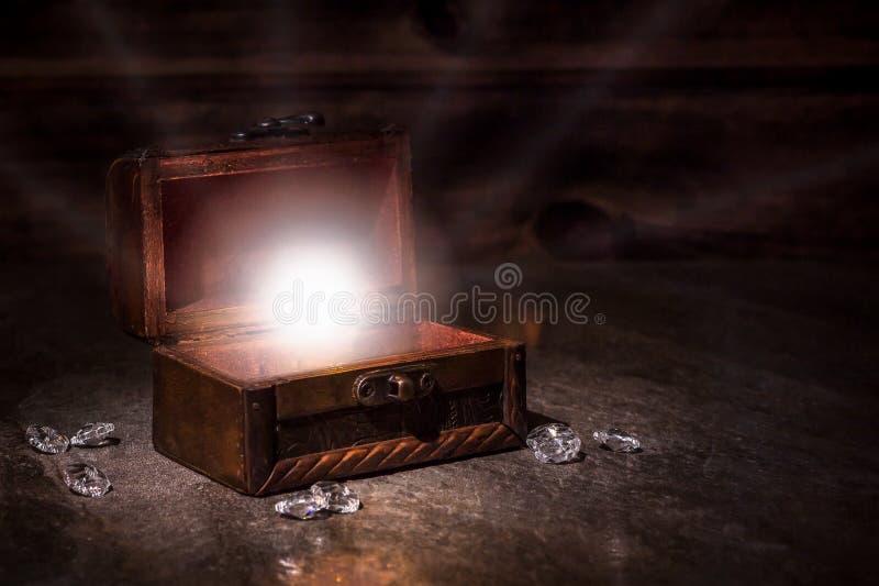 海盗桌,上尉客舱内部 图库摄影