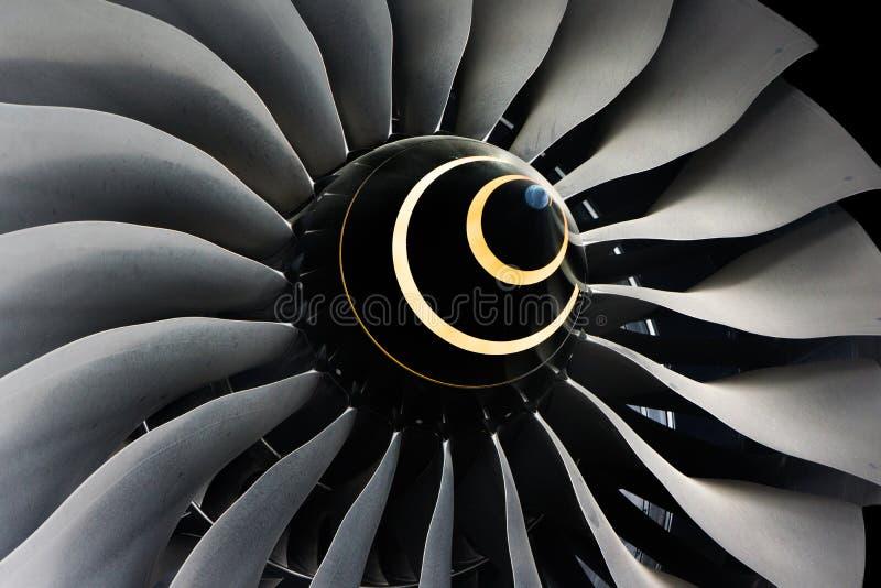 涡轮刀片喷气机引擎 免版税库存图片
