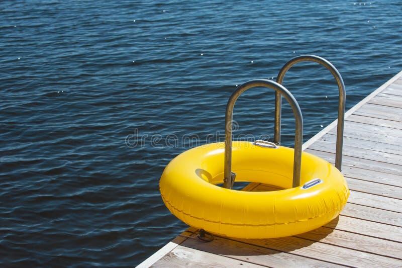 游泳圆环 库存照片