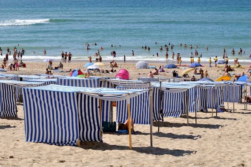 滨海苏拉克海滩,法国 免版税库存照片