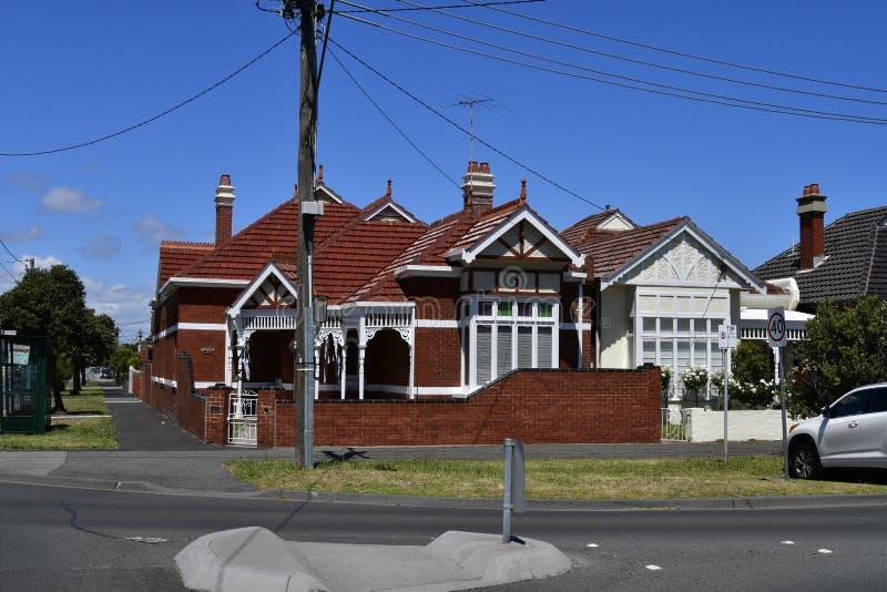 澳大利亚,维多利亚,墨尔本,郊区区 免版税图库摄影