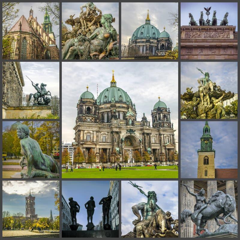 柏林,德国视域的照片拼贴画  图库摄影