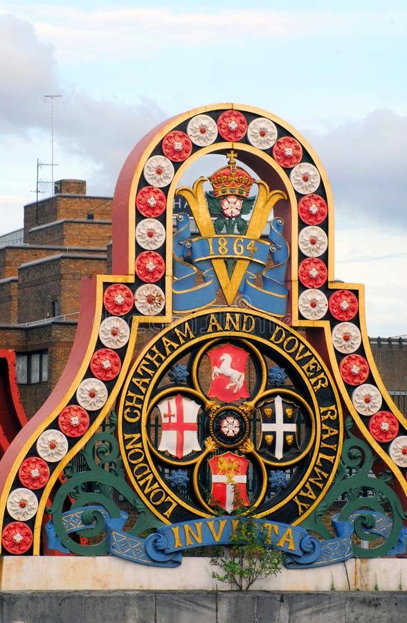 查塔姆多弗铁路的英国伦敦权威 免版税库存图片
