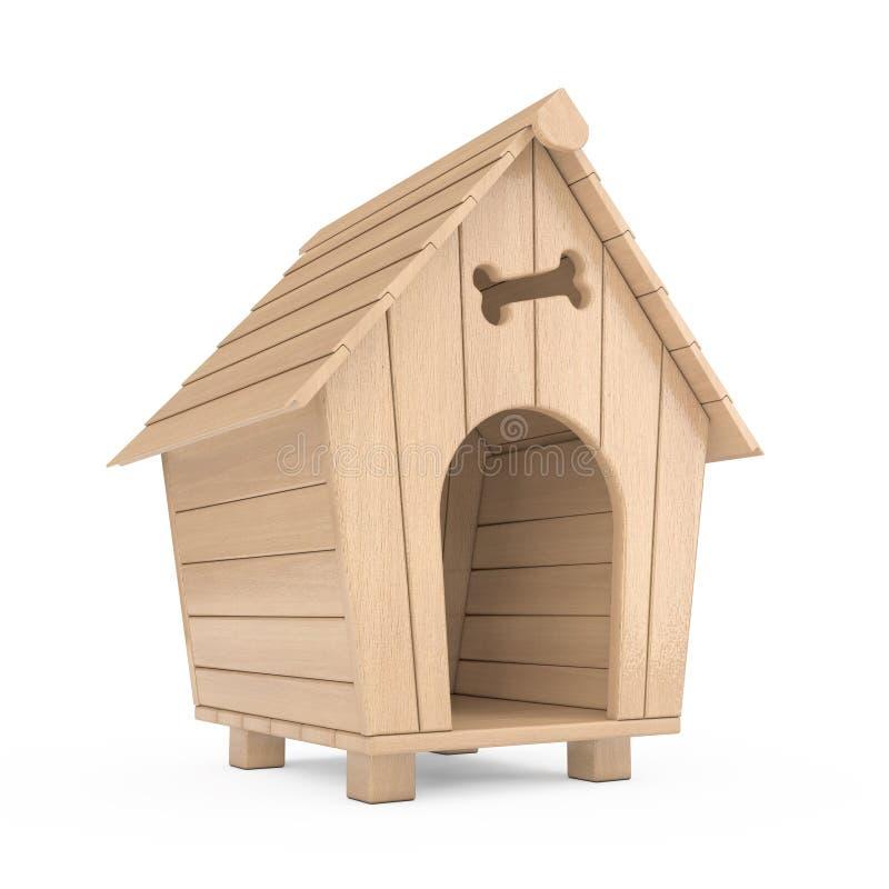木动画片犬小屋 3d翻译 向量例证