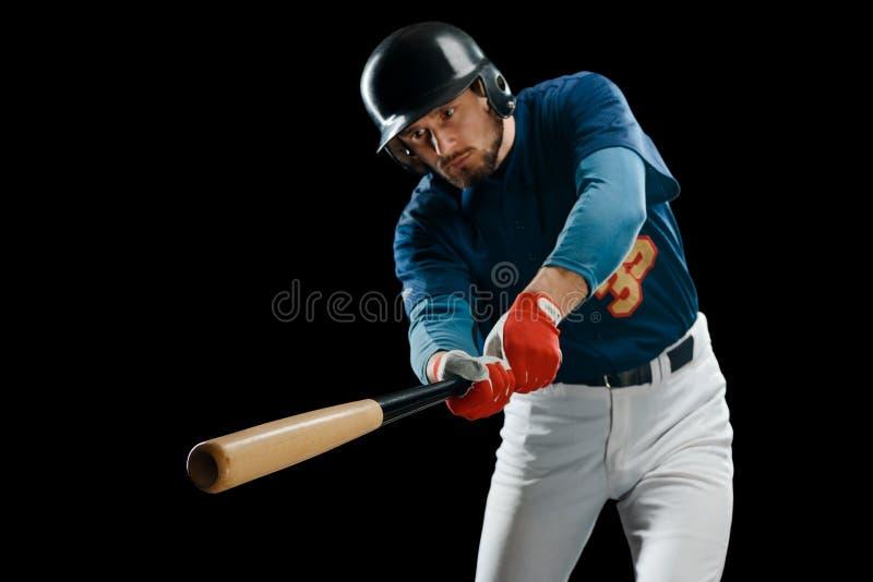 木棒在击球手的手上 库存图片