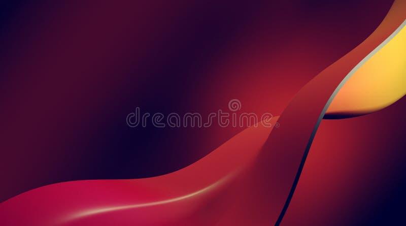未来派五颜六色的抽象背景3d例证波浪 库存图片