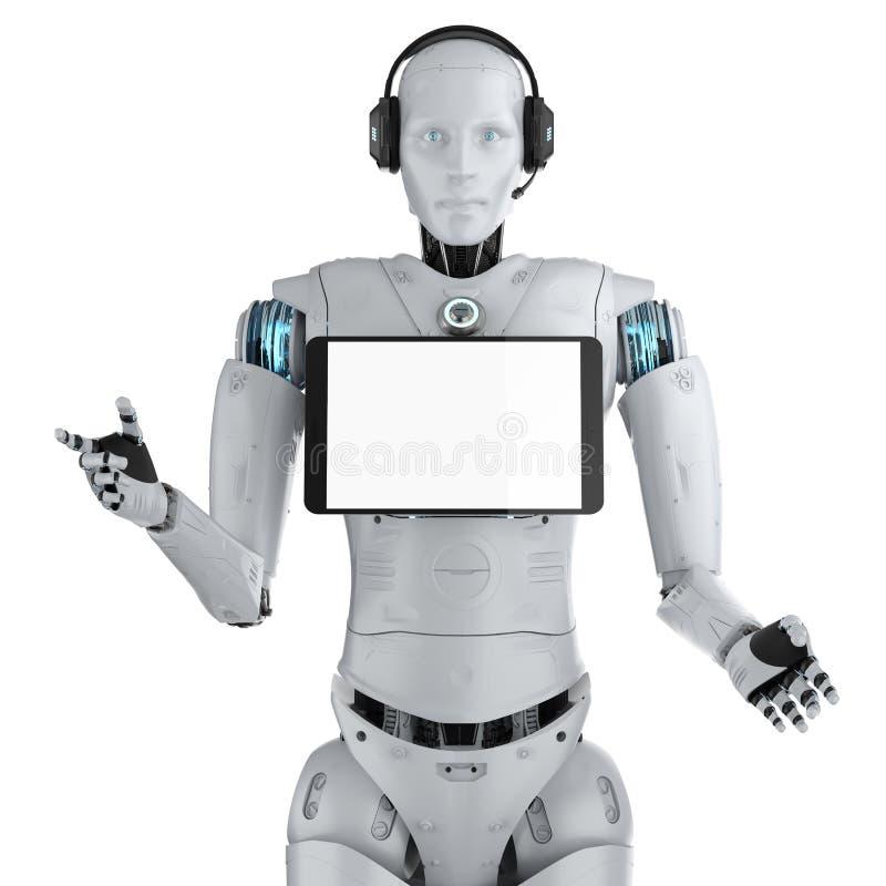 机器人助理概念 向量例证
