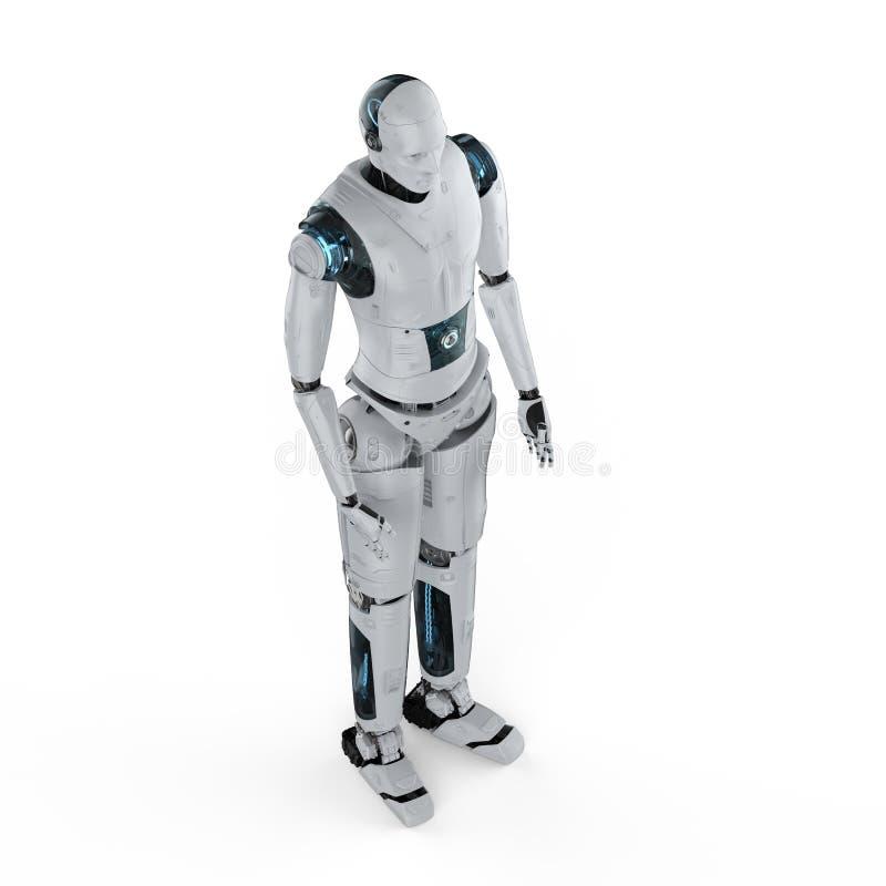 机器人充分的身体 皇族释放例证