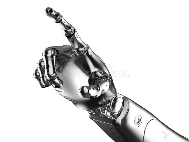 机器人手点 皇族释放例证