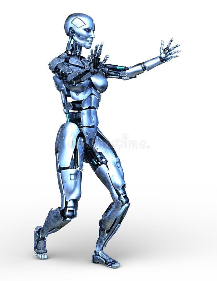 机器人3D CG翻译  向量例证