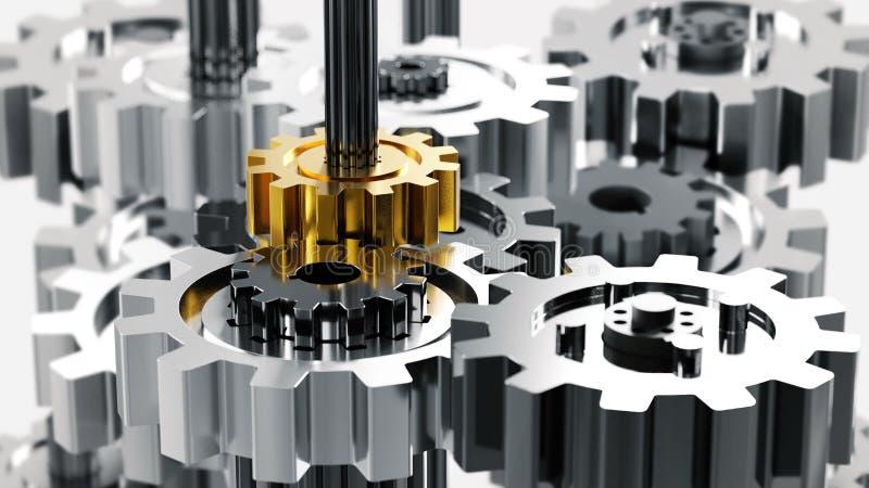 机器和机械工程 库存例证