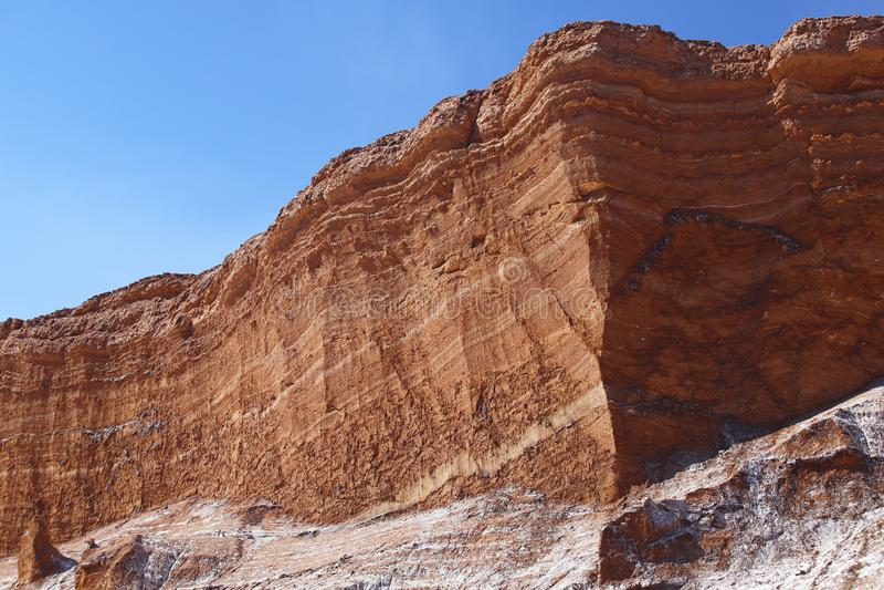 月亮的谷-瓦尔de la月,阿塔卡马沙漠,智利 免版税库存图片