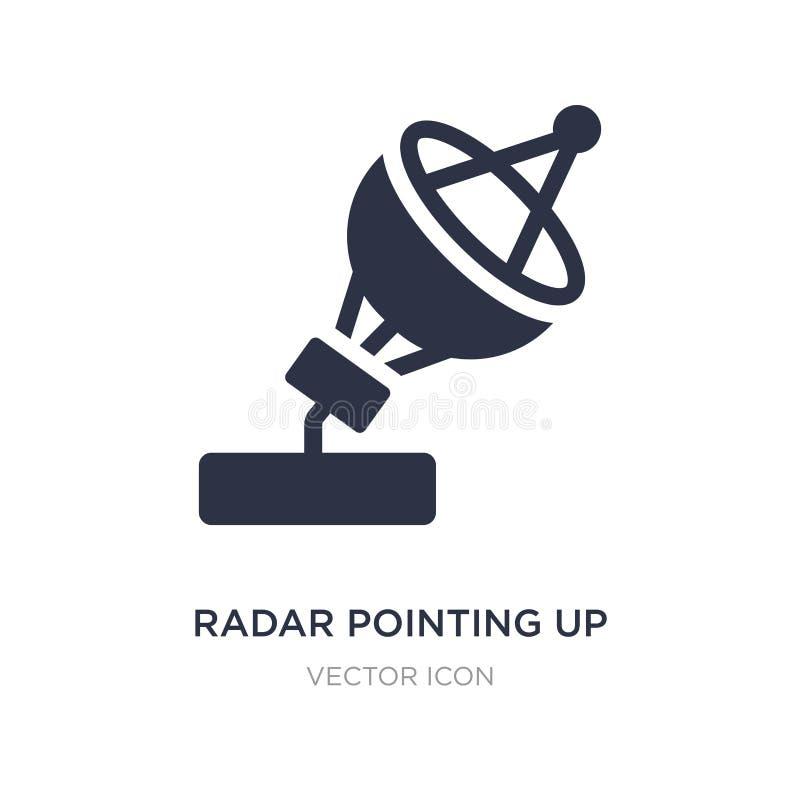 指向在白色背景的象的雷达 从天文概念的简单的元素例证 向量例证