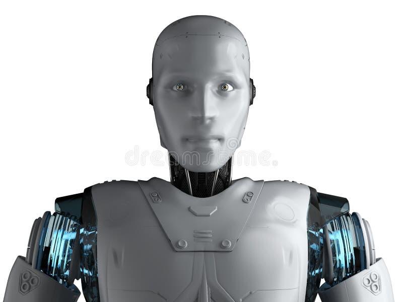 有人的特点的机器人画象 向量例证
