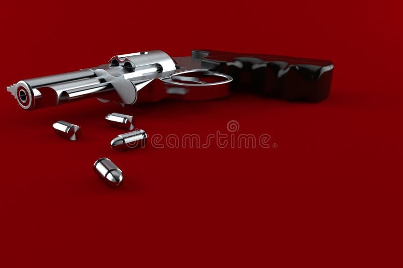 有弹药的枪 向量例证